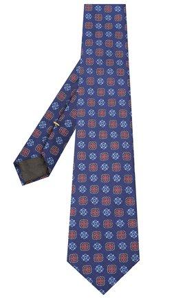 Мужской шелковый галстук CANALI синего цвета, арт. 18/HJ02857 | Фото 2