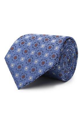 Мужской шелковый галстук CANALI синего цвета, арт. 18/HJ02856 | Фото 1