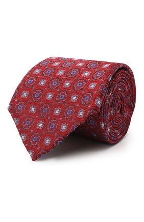 Мужской шелковый галстук CANALI красного цвета, арт. 18/HJ02856 | Фото 1