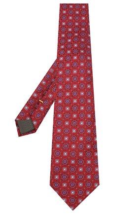 Мужской шелковый галстук CANALI красного цвета, арт. 18/HJ02856 | Фото 2