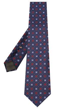 Мужской шелковый галстук CANALI темно-синего цвета, арт. 18/HJ02856 | Фото 2
