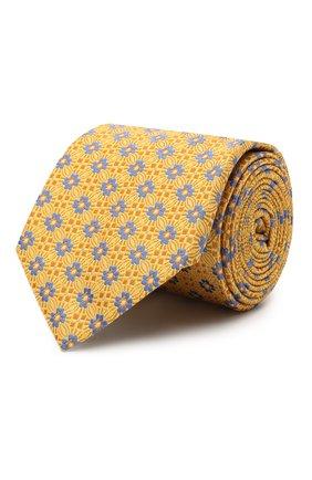 Мужской шелковый галстук CANALI желтого цвета, арт. 18/HJ02855 | Фото 1
