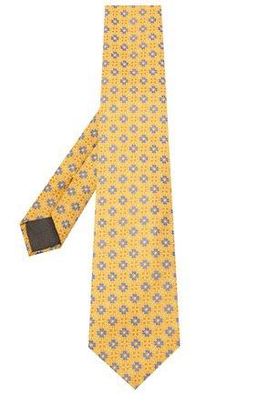 Мужской шелковый галстук CANALI желтого цвета, арт. 18/HJ02855 | Фото 2