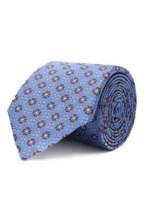 Мужской шелковый галстук CANALI голубого цвета, арт. 18/HJ02855 | Фото 1