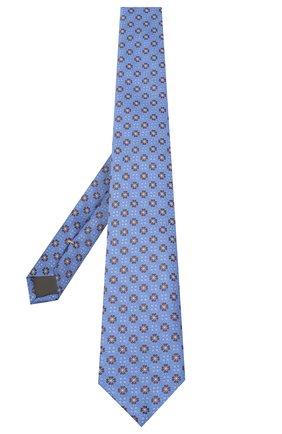 Мужской шелковый галстук CANALI голубого цвета, арт. 18/HJ02855 | Фото 2