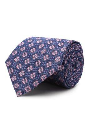 Мужской шелковый галстук CANALI фиолетового цвета, арт. 18/HJ02855 | Фото 1