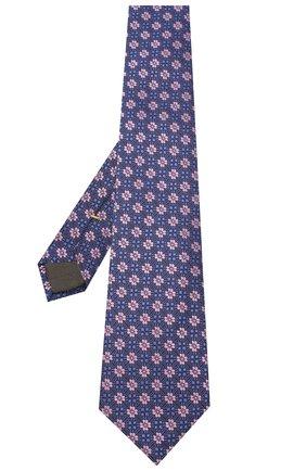 Мужской шелковый галстук CANALI фиолетового цвета, арт. 18/HJ02855 | Фото 2