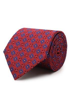 Мужской шелковый галстук CANALI красного цвета, арт. 18/HJ02855 | Фото 1