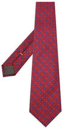 Мужской шелковый галстук CANALI красного цвета, арт. 18/HJ02855 | Фото 2