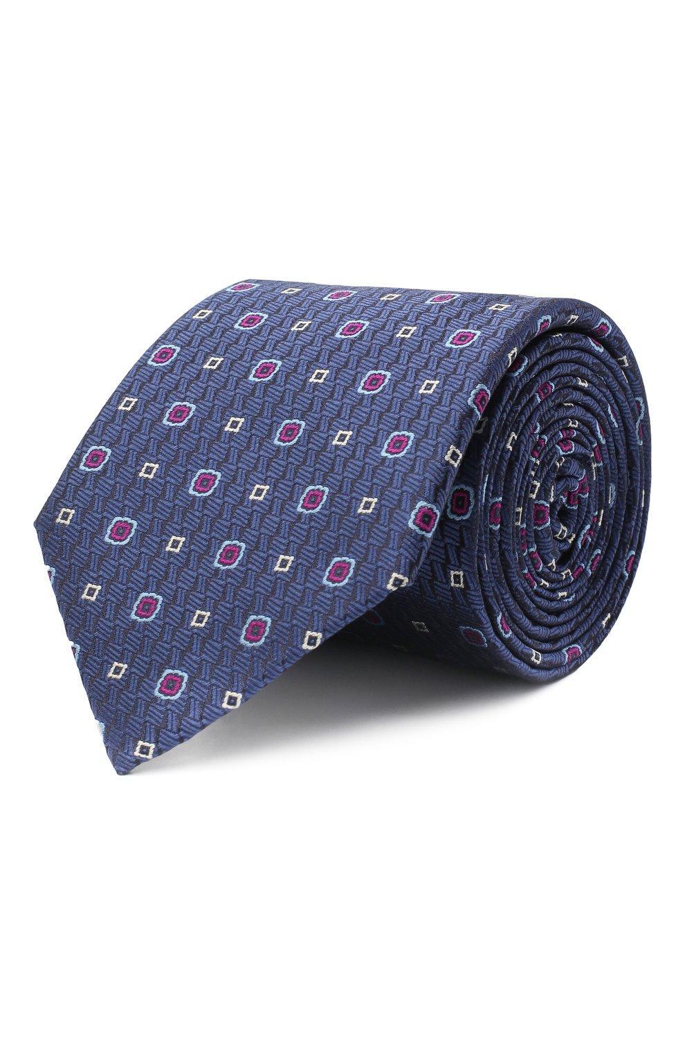 Мужской шелковый галстук CANALI темно-синего цвета, арт. 18/HJ02854   Фото 1