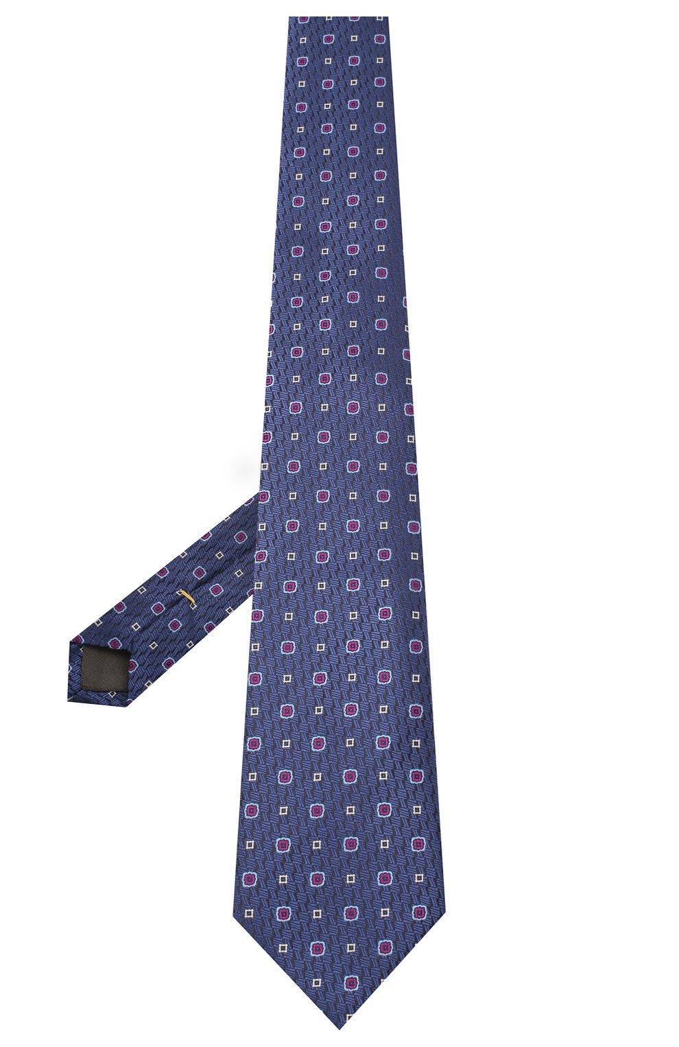 Мужской шелковый галстук CANALI темно-синего цвета, арт. 18/HJ02854   Фото 2