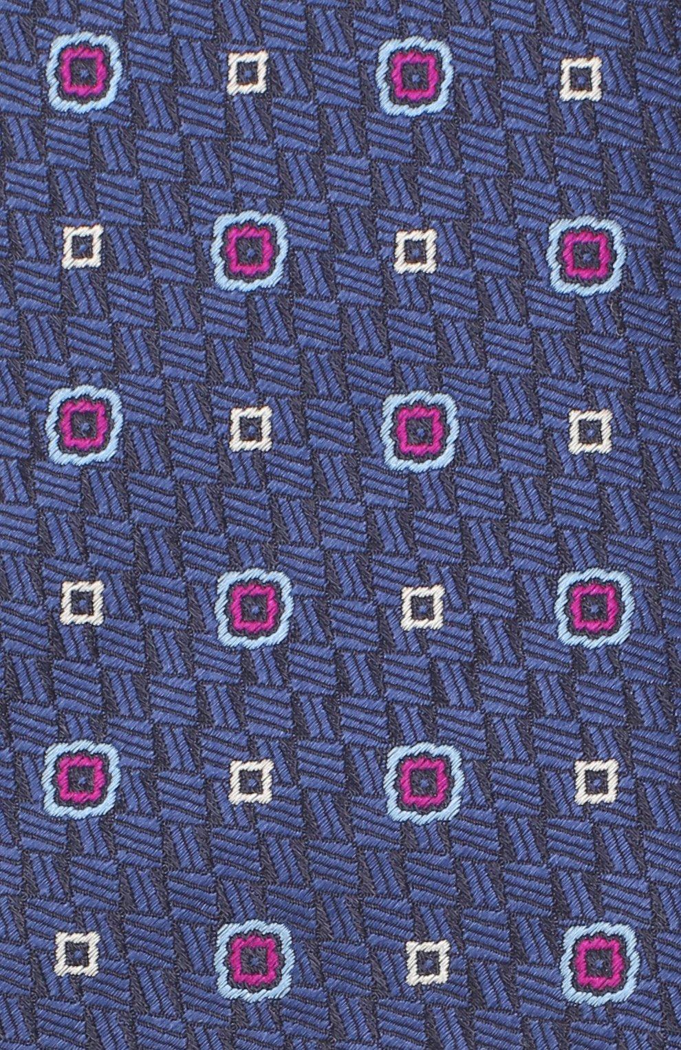Мужской шелковый галстук CANALI темно-синего цвета, арт. 18/HJ02854   Фото 3