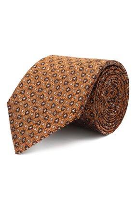 Мужской шелковый галстук CANALI желтого цвета, арт. 18/HJ02853 | Фото 1
