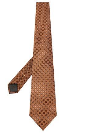 Мужской шелковый галстук CANALI желтого цвета, арт. 18/HJ02853 | Фото 2
