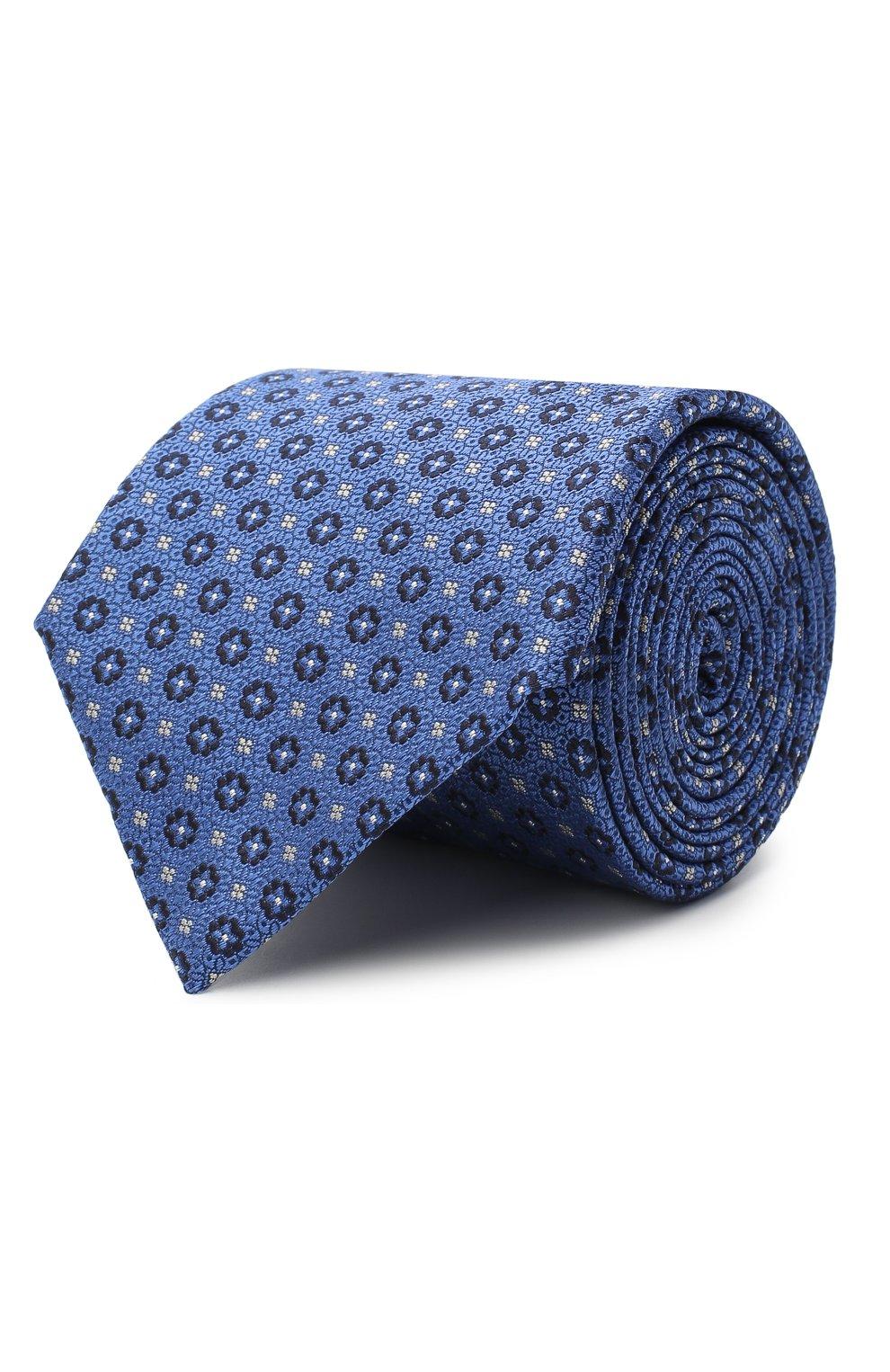 Мужской шелковый галстук CANALI синего цвета, арт. 18/HJ02853 | Фото 1