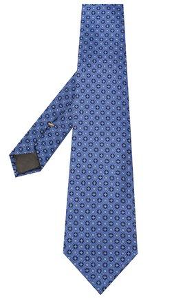 Мужской шелковый галстук CANALI синего цвета, арт. 18/HJ02853 | Фото 2