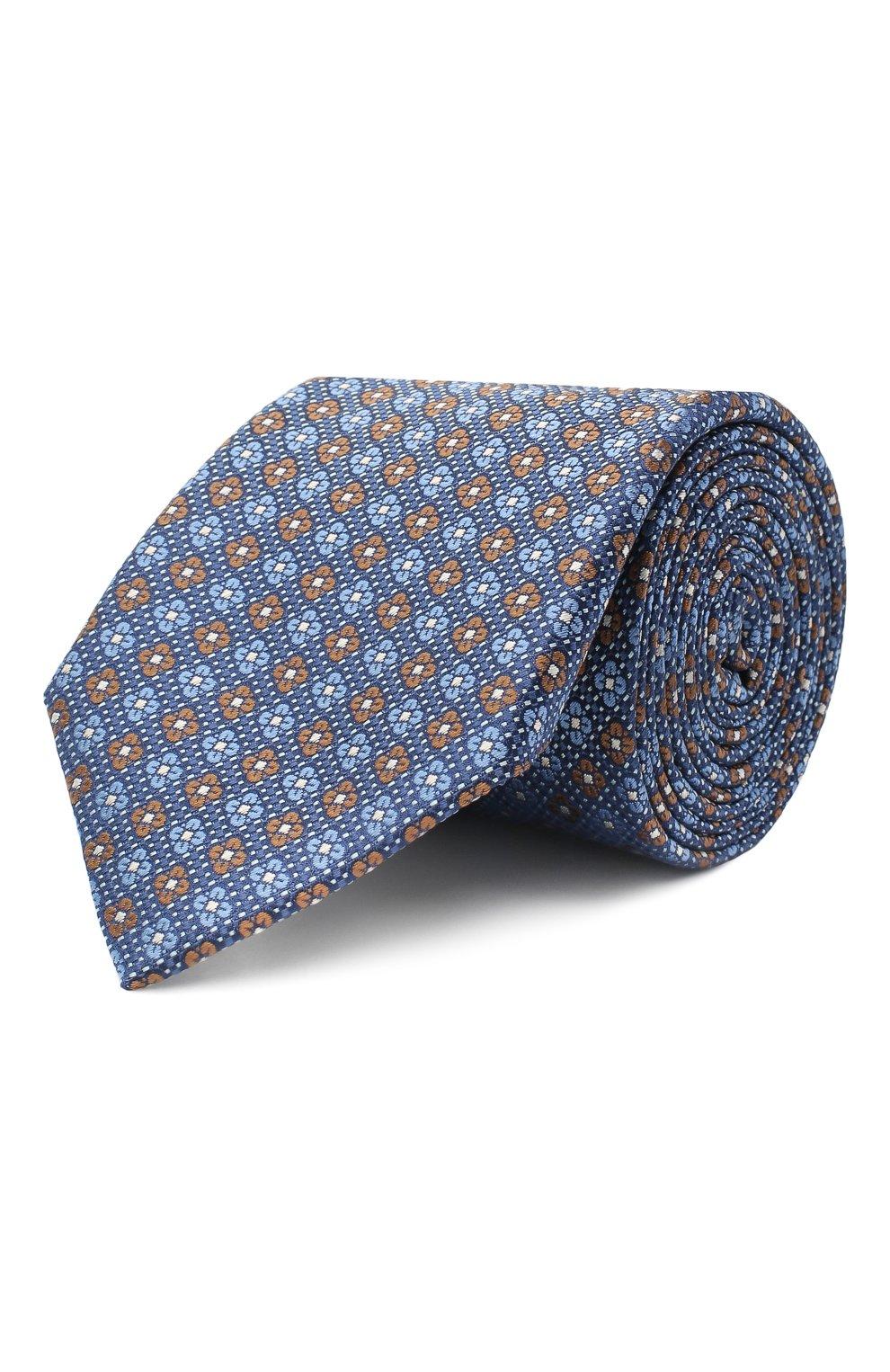 Мужской шелковый галстук CANALI синего цвета, арт. 18/HJ02852 | Фото 1