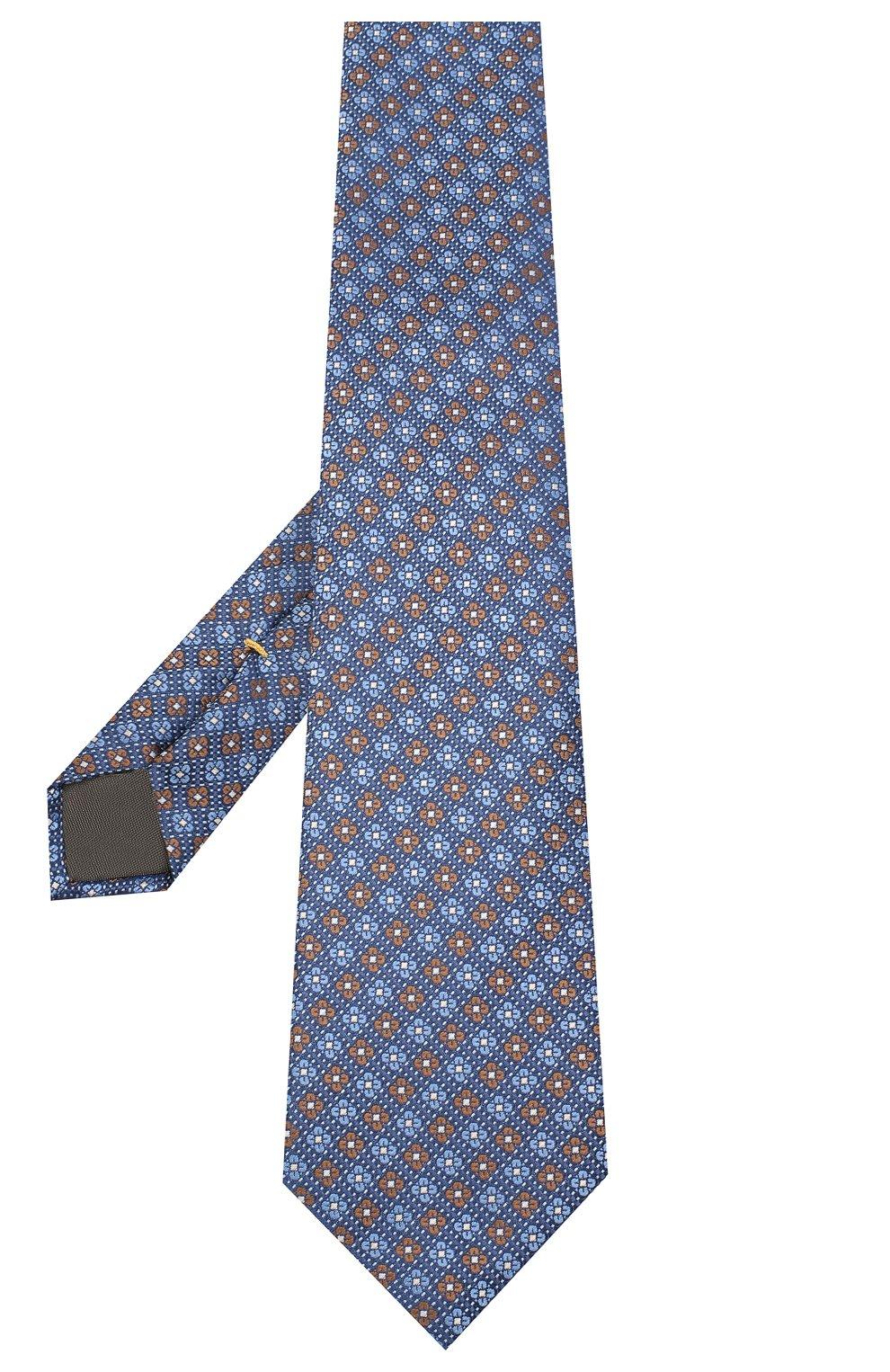 Мужской шелковый галстук CANALI синего цвета, арт. 18/HJ02852 | Фото 2