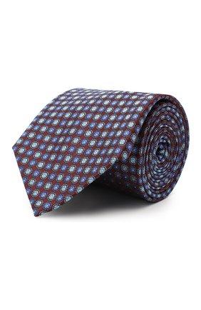 Мужской шелковый галстук CANALI бордового цвета, арт. 18/HJ02851 | Фото 1