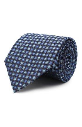 Мужской шелковый галстук CANALI темно-синего цвета, арт. 18/HJ02851 | Фото 1