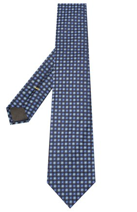 Мужской шелковый галстук CANALI темно-синего цвета, арт. 18/HJ02851 | Фото 2