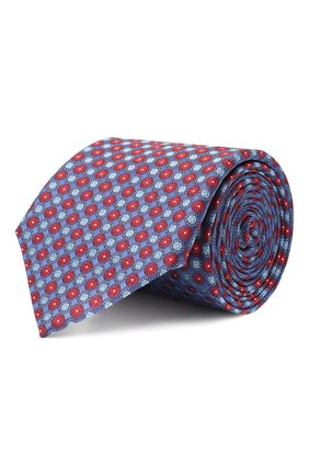 Мужской шелковый галстук CANALI синего цвета, арт. 18/HJ02851 | Фото 1