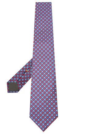 Мужской шелковый галстук CANALI синего цвета, арт. 18/HJ02851 | Фото 2