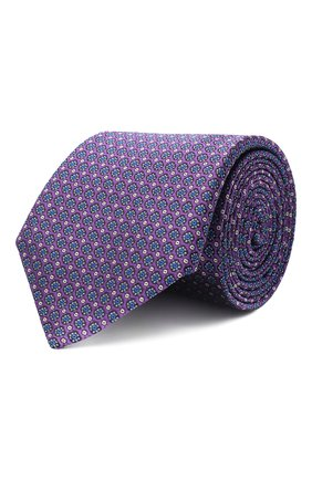 Мужской шелковый галстук CANALI сиреневого цвета, арт. 18/HJ02849 | Фото 1