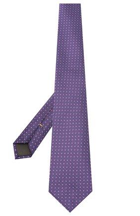 Мужской шелковый галстук CANALI сиреневого цвета, арт. 18/HJ02849 | Фото 2