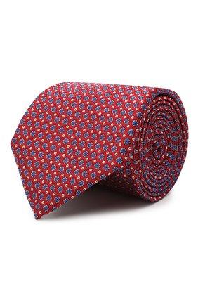 Мужской шелковый галстук CANALI красного цвета, арт. 18/HJ02849 | Фото 1