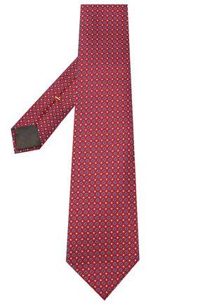 Мужской шелковый галстук CANALI красного цвета, арт. 18/HJ02849 | Фото 2
