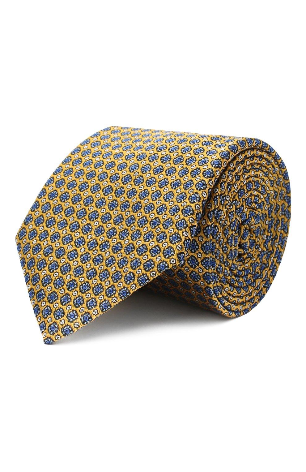 Мужской шелковый галстук CANALI желтого цвета, арт. 18/HJ02849 | Фото 1