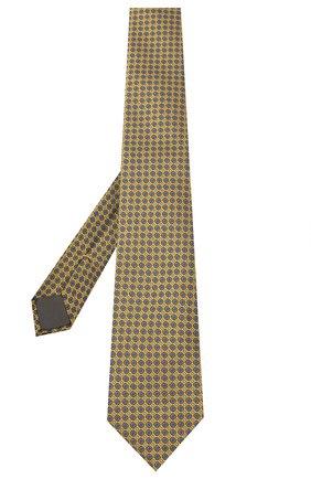 Мужской шелковый галстук CANALI желтого цвета, арт. 18/HJ02849 | Фото 2