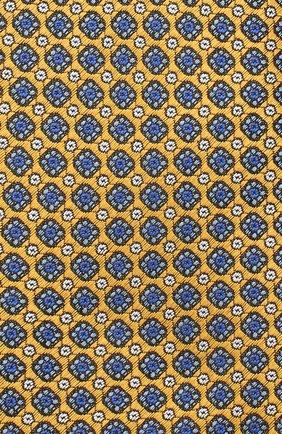 Мужской шелковый галстук CANALI желтого цвета, арт. 18/HJ02849 | Фото 3