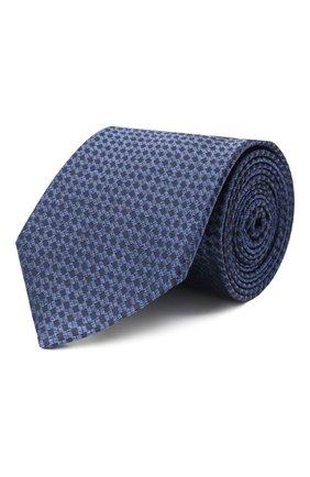 Мужской шелковый галстук CANALI синего цвета, арт. 18/HJ02847 | Фото 1