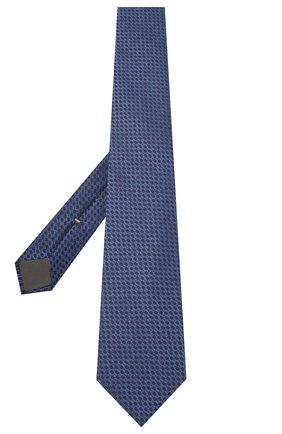 Мужской шелковый галстук CANALI синего цвета, арт. 18/HJ02847 | Фото 2