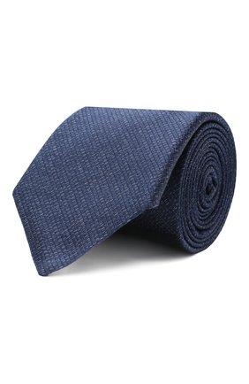 Мужской шелковый галстук CANALI темно-синего цвета, арт. 18/HJ02846 | Фото 1