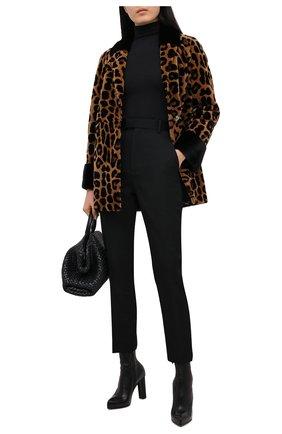 Женская шуба из меха норки KUSSENKOVV коричневого цвета, арт. 720112890477 | Фото 2