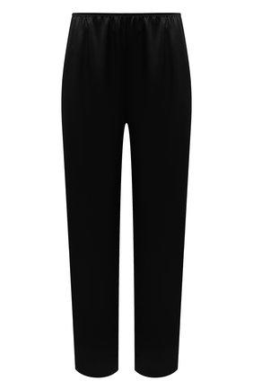 Женские шелковые брюки SIMONEPERELE черного цвета, арт. 15B660 | Фото 1