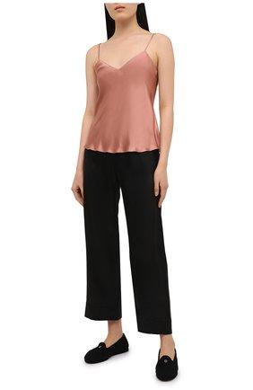Женские шелковые брюки SIMONEPERELE черного цвета, арт. 15B660 | Фото 2
