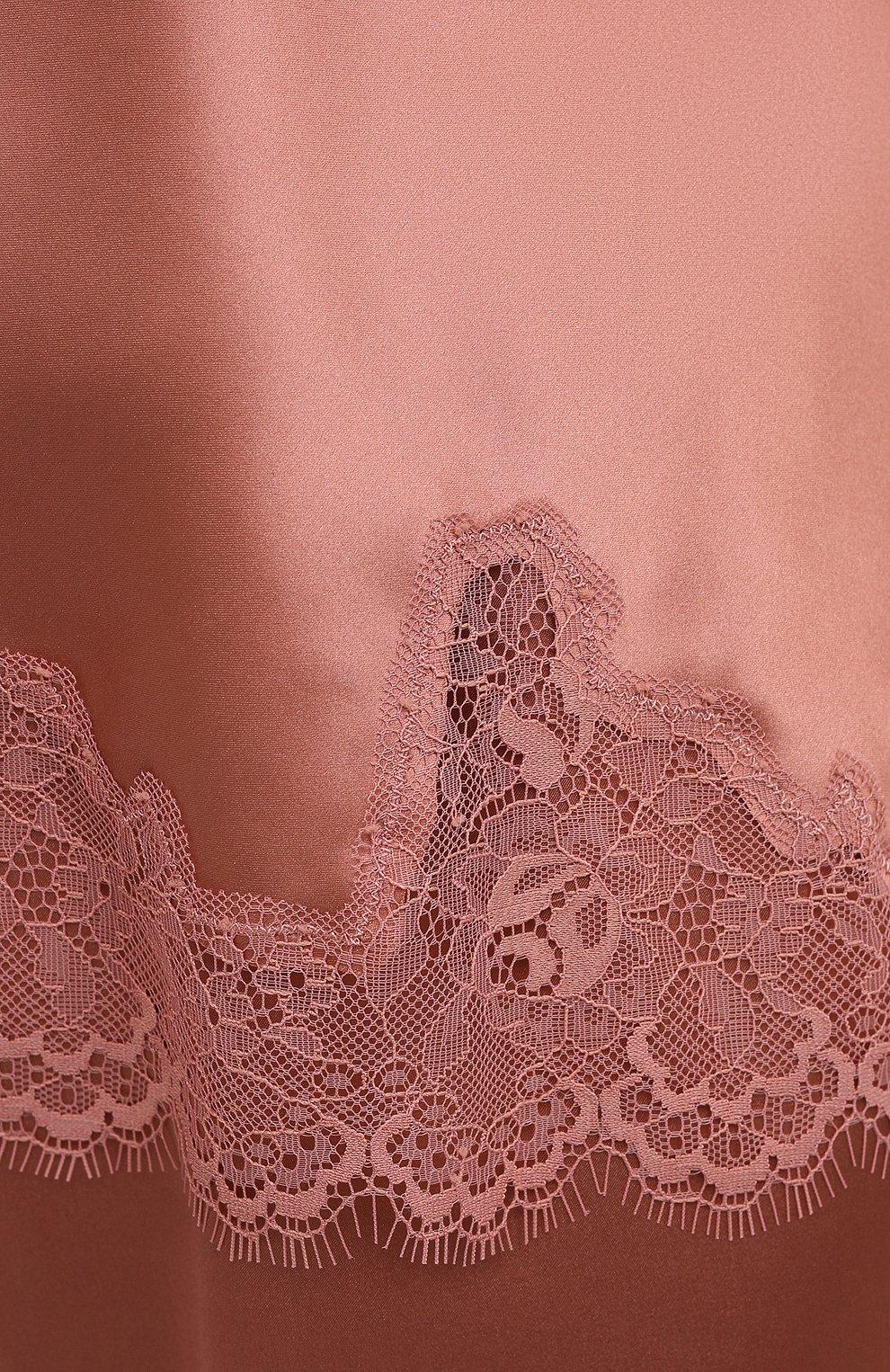 Женская шелковый топ SIMONEPERELE бежевого цвета, арт. 17F900 | Фото 5