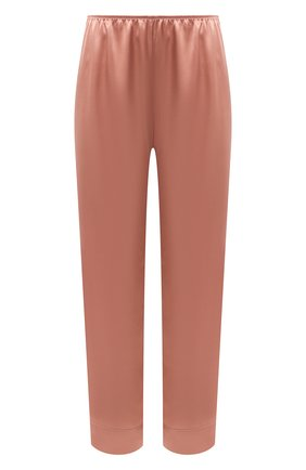 Женские шелковые брюки SIMONEPERELE бежевого цвета, арт. 15B660 | Фото 1