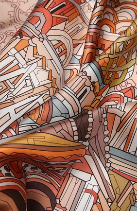 Женский шелковый платок st. basil's cathedral RADICAL CHIC коричневого цвета, арт. 242232.21.02 | Фото 2