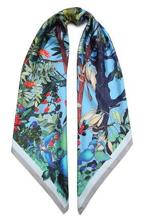 Женский шелковый платок foresta RADICAL CHIC голубого цвета, арт. 550415.07.09 | Фото 1