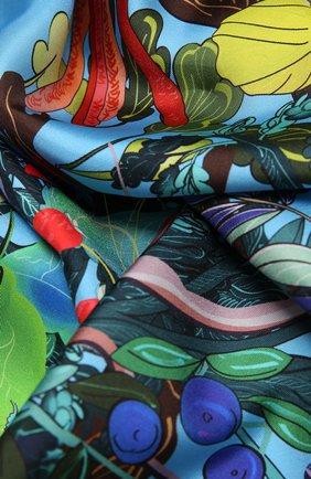 Женский шелковый платок foresta RADICAL CHIC голубого цвета, арт. 550415.07.09 | Фото 2