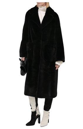Женская шуба из меха норки KUSSENKOVV черного цвета, арт. 702800002470 | Фото 2