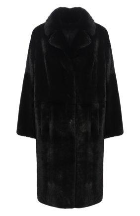 Женская шуба из меха норки KUSSENKOVV черного цвета, арт. 702800002512 | Фото 1