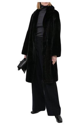 Женская шуба из меха норки KUSSENKOVV черного цвета, арт. 702800002512 | Фото 2
