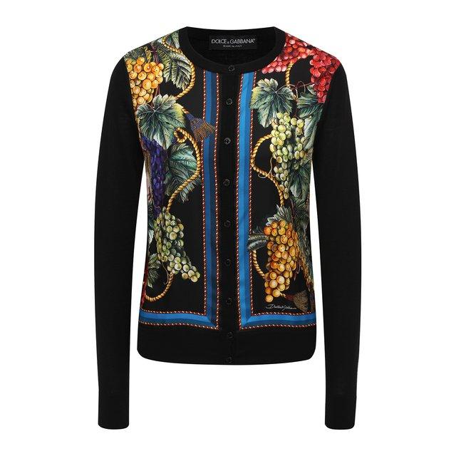 Кардиган из кашемира и шелка Dolce & Gabbana