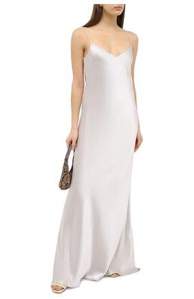 Женское платье GALVAN LONDON серебряного цвета, арт. 120SGDR0001 | Фото 2